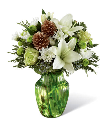 Flower Arrangement Round Vase