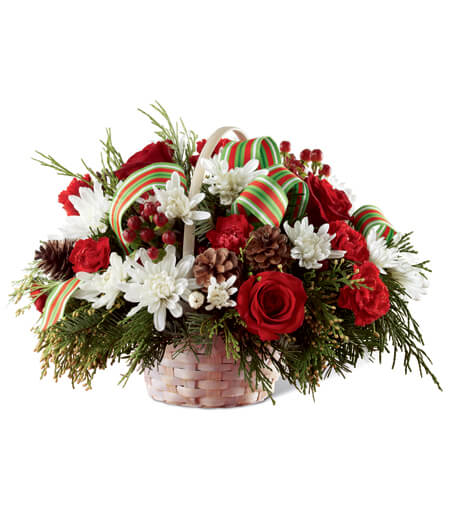 Fruit Basket And Flowers Delivery