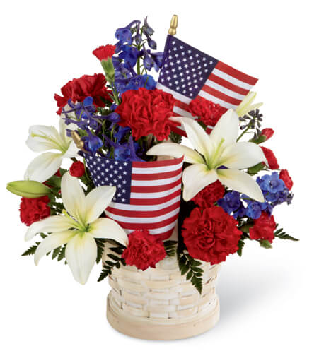 Floral Bouquet For 4Th July