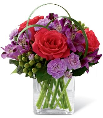 Flower In Glass Centerpiece