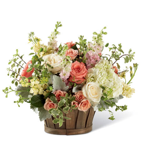 Fruit Flower Basket Arrangement