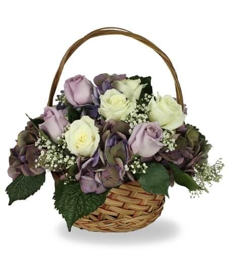 Easter Flower Basket Arrangement