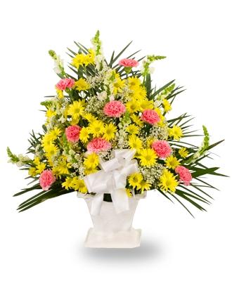 Flower Basket For Funeral