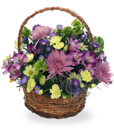 Flowers And Fruit Gift Baskets