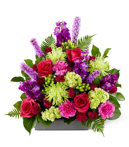 Funeral Flowers In A Basket