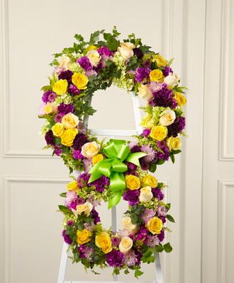 Floral Cross Wreath