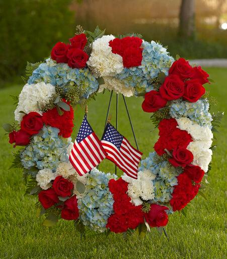 Patriotic Flower Centerpieces Delivery