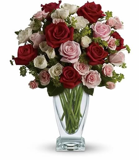 Floral Arrangements In Cube Vases