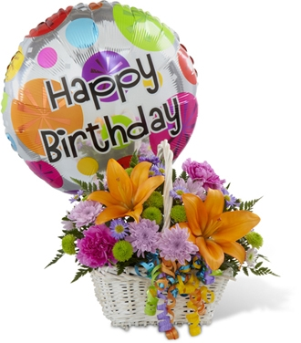 Best Birthday Flowers The Happy Blooms Basket 6995
