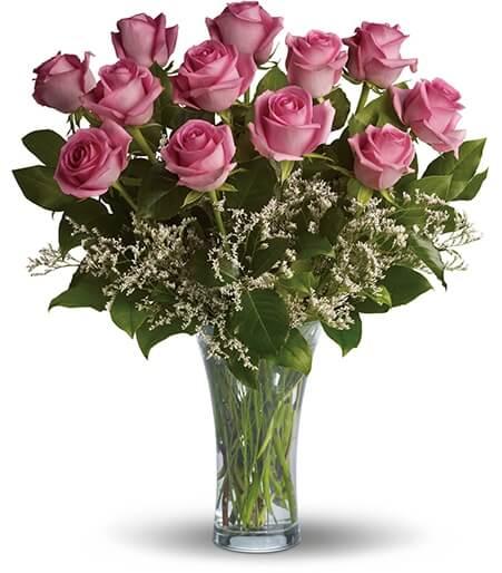 Dozen Pink Roses