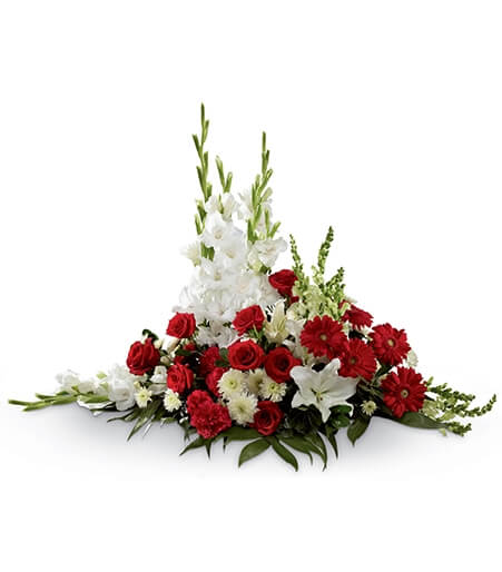 Flower Arrangement for Casket