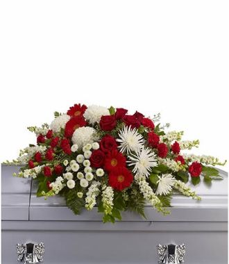 Funeral Flowers For Top Of Casket