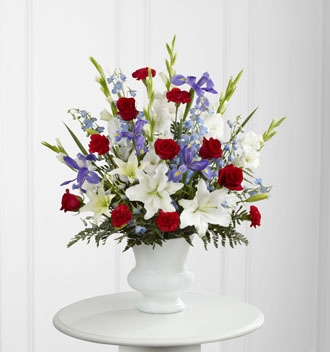 Patriotic Veterans Day Flowers