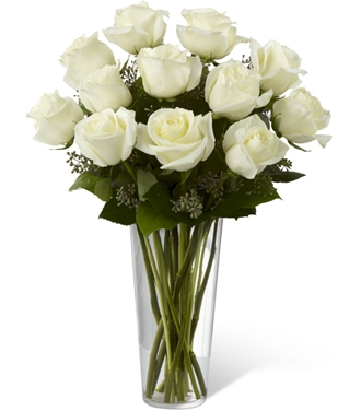 white rose bouquet - Garden Rose Bouquet